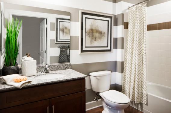 Bathroom sink feature Creekstone Village apartments in Pasadena, MD
