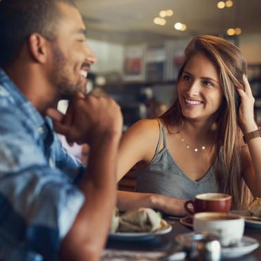 Smiling couple having dinner | Creekstone Village